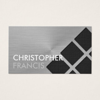 正方形パターンが付いているのどによってブラシをかけられる金属カード 名刺