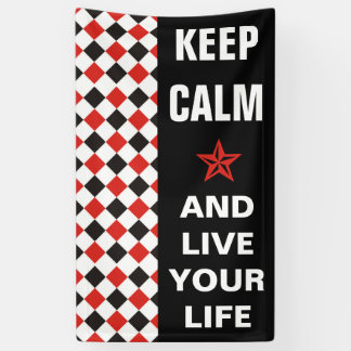 正方形パターン黒の赤い白 + あなたのbackgr. 横断幕