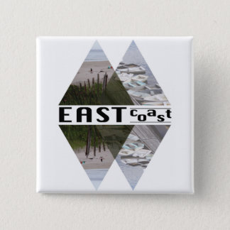 正方形ボタンの東海岸 缶バッジ