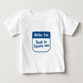 正方形1の幼児Tシャツに戻る ベビーTシャツ