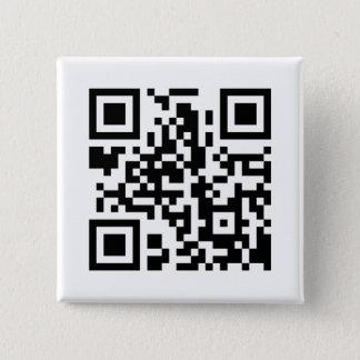 正方形QRコードボタン 5.1CM 正方形バッジ