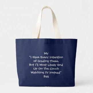 正直な先生のトートバック ラージトートバッグ