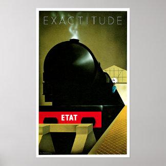 正確さETATフランスのな鉄道旅行芸術 ポスター