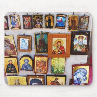 、正統のアイコン、ビザンチン、GrMousepadキリスト教 マウスパッド