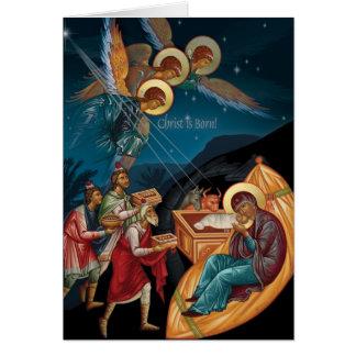 正統のクリスマスカード カード