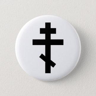 正統の十字 5.7CM 丸型バッジ