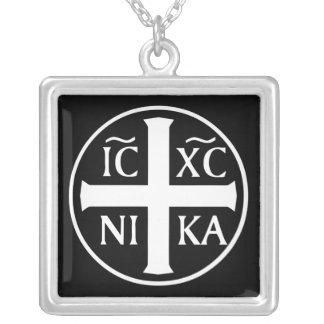 正統キリスト教の宗教アイコンICX NIKA シルバープレートネックレス