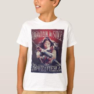 正義のためのワンダーウーマンの戦い Tシャツ
