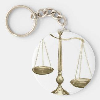 正義のはかりで測られる金ゴールド キーホルダー