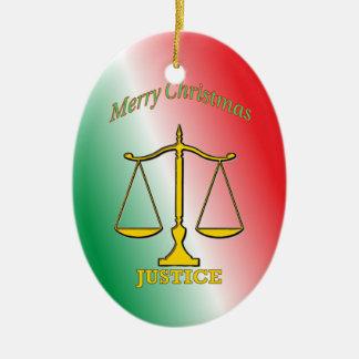 正義のはかりで測られる セラミックオーナメント