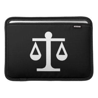 正義のピクトグラムのMacBookの空気袖 MacBook スリーブ