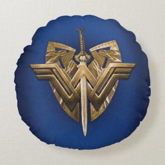 正義の剣とのワンダーウーマンの記号 ラウンドクッション