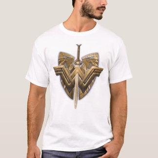 正義の剣とのワンダーウーマンの記号 Tシャツ
