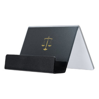 正義の弁護士|の金スケール デスク名刺ホルダー
