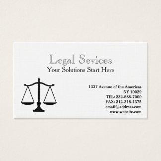 正義の法律のバランス 名刺