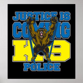 正義はK9警察を来ています ポスター