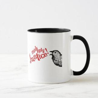 正義を増加して下さい! ロゴのマグ マグカップ