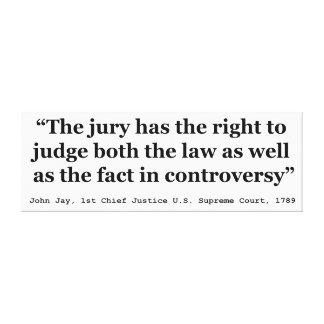 正義ジョンジェイ1789年による試験陪審引用文 キャンバスプリント