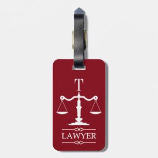 正義弁護士の荷物のラベルのスケール ラゲッジタグ