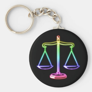 正義|の法律のはかりで測られる キーホルダー
