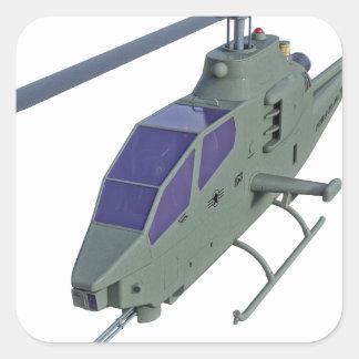 正面図のアパッシュのヘリコプター スクエアシール
