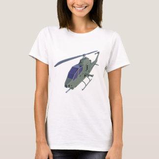 正面図のアパッシュのヘリコプター Tシャツ