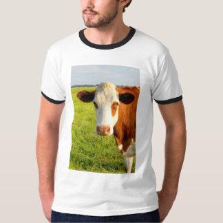 正面図のFriesian牛 Tシャツ