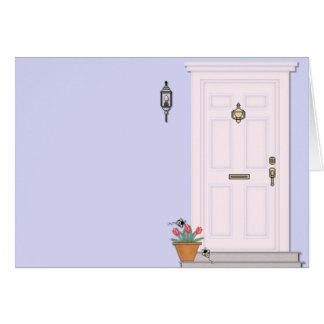 正面玄関の家の家のブランクの挨拶状 グリーティングカード