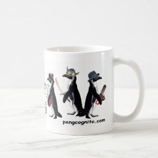 武器のマグを持つペンギン コーヒーマグカップ