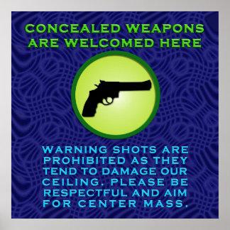 武器携帯は歓迎されています ポスター