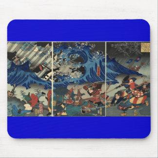 武士およびモンゴル人の古代日本のな絵画 マウスパッド