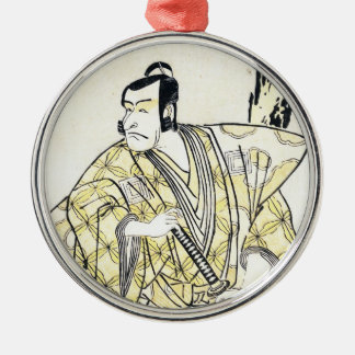 武士としてShuneiクラシックなヴィンテージの日本俳優 メタルオーナメント