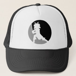 武士のシルエットの帽子 キャップ