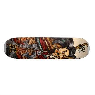 武士のスケートボードSkidone スケボーデッキ