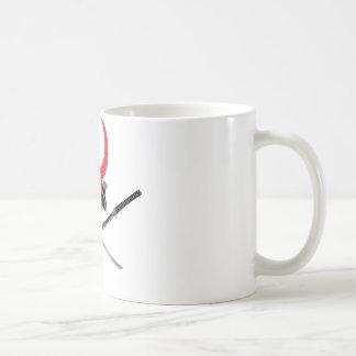 武士のヘルメットおよび剣 コーヒーマグカップ