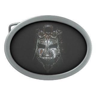武士のマスク 卵形バックル