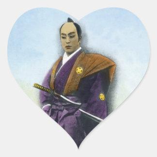 武士のヴィンテージの日本人の侍 ハートシール