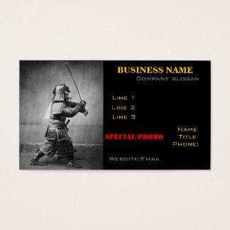武士の写真の名刺 名刺