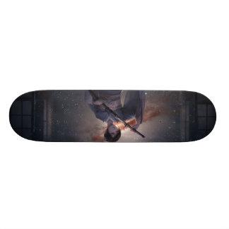 武士の女の子 スケートボード