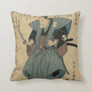 武士の役割の俳優のヴィンテージの日本のなイメージ クッション