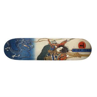 武士の戦いのウォータードラゴン属板 スケートボードデッキ