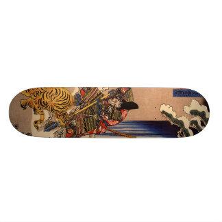 武士の戦いのトラ板 スケートボード