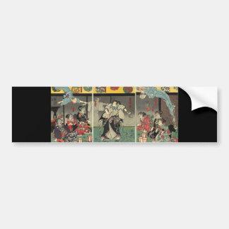 武士の戦いの幽霊およびヘビc. 1850年 バンパーステッカー