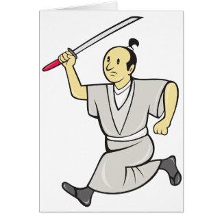 武士の戦士の挨拶状 カード