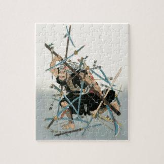 武士の戦士の東洋の芸術3 ジグソーパズル