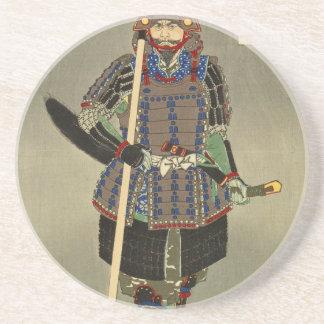 武士の戦士のYukimoriの山中幸盛- Yoshitoshiの月岡芳年 コースター