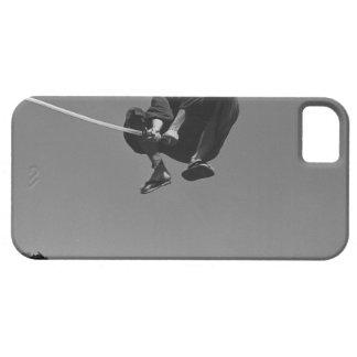 武士の戦士は剣3との攻撃を跳びます iPhone SE/5/5s ケース