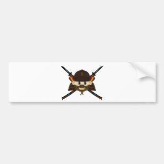 武士の戦士及び剣のステッカー バンパーステッカー