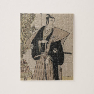武士の戦士c. 1780年の実物大のポートレート ジグソーパズル