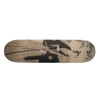 武士の戦士c. 1780年の実物大のポートレート スケートボード